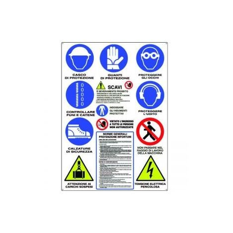 Kartelle P/cantieri-scavi 12 symbolen golfkarton
