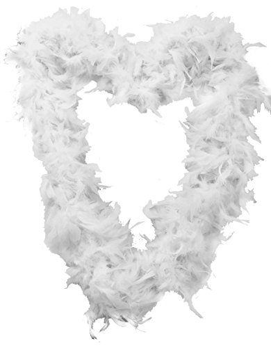 I LOVE FANCY DRESS LTD FEATHER GARLAND FOR CHRISTMAS TREE. 180CM / 5.9FT WHITE XMAS GARLAND DECORATIONS. CHRISTMAS TREE DECORATIONS WHITE. CHRISTMAS TREE TINSEL/WHITE FLUFFY TINSEL. PACK OF 3