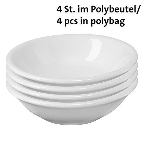 Westmark 4 Keramiktöpfchen/Servierschälchen, rund, klein, Maße: ø 7 x 2 cm, Keramik, Tapas + Friends, Weiß, 6975224C