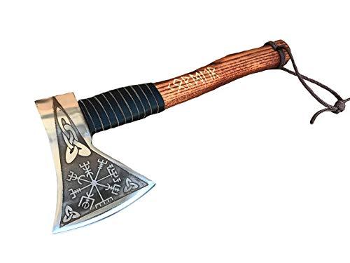 Viking axe, mens gifts, vegvisir, viking armor, viking compass, runes art, runes amulet, runes decor, runes etched, runes gift for boyfriend