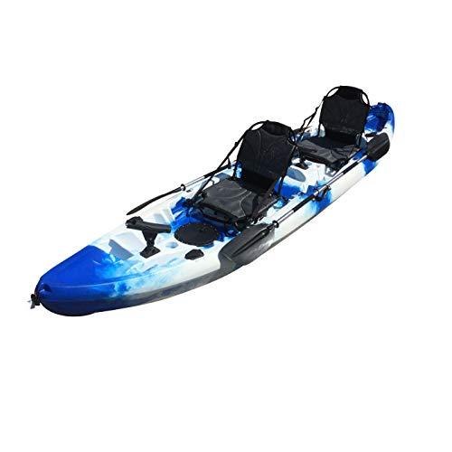 Cambridge Kayaks ES, Sun Fish TÁNDEM SÓLO 2 + 1,Azul con Blanco, RIGIDO