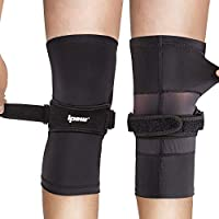 2-Pack IPOW Latest 2 in 1 Knee Strap with Stretchy Type