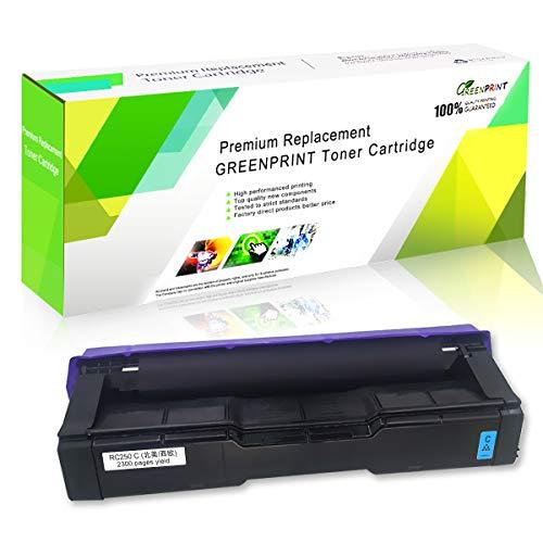 Cartucho de Tóner Compatible SP C250 C261 Cian Alta Capacidad 2300 Páginas para RICOH Aficio SP C250DN C250SF C261SFN C261SFNw C261DNw Impresoras Láser GREENPRINT