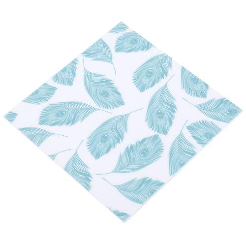 Etiqueta engomada de la baldosa del piso, decoración de la pared del patrón de las hojas verdes 10x10cm fácil de pegar 10pcs / set para la decoración del hogar para la sala de estar