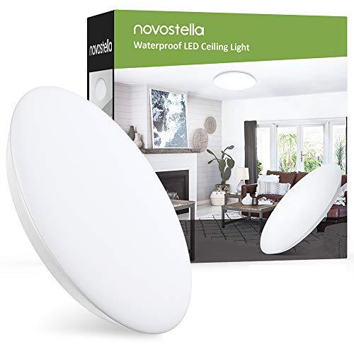 LED Deckenleuchte Deckenlampe 18W 1800LM (Ersetzt 120W) 6000K Badlampe Ultradünn IP65 Wasserdicht Tageslichtweiß Durchmesser 30cm für Bad Wohnzimmer Küche Balkon Kühlraum Garage von 25m²
