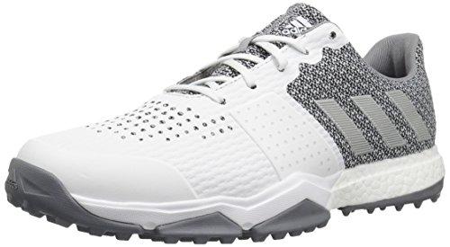 adidas Men's Adipower Sport Boost 3 Golf Shoe, White/Silver Metallic/Light Onix, 9.5 W US