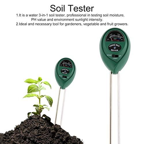 TOPINCN 3 in 1 Feuchtigkeit//pH//Sonnenlicht Boden Meter Boden Wasser Monitor Hygrometer Landwirtschaftliche Pflanzen Blumen Garten Rasen Bauernhof Gartenger/äte