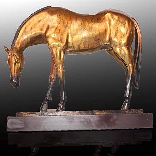 BGHYU Escultura de Caballo de Bronce Decoración de Animales Decoración del hogar Artesanía Gift-A_68 * 18 * 46CM