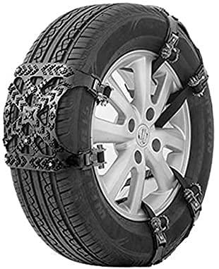 IOUYRRN 1PC Winter Car snökedja Däck Universal Multifunktionell Car terrängfordon SUV bilar vinterdäck TPU Chains bildäck (färg Namn: Black) (Color : Black)