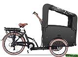 Elektro Transportfahrrad/Bakfiets Vogue Troy 7 Gang DR Schwarz-Braun