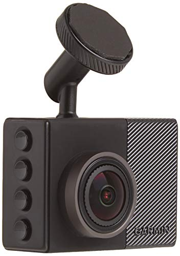 Garmin Dash Cam 65, 1080p 2.0' LCD Screen, Extremely Small GPS-enabled Dash Camera, Extra Wide 180-Degree Field of View, Voice Control, Loop Recording, G-Sensor and Driver Alerts, Includes Memory Card