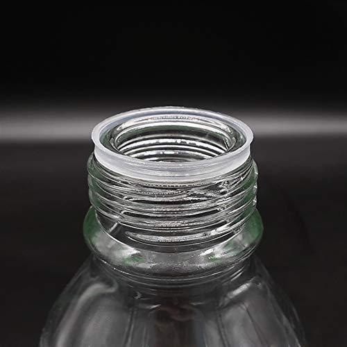 LIXIAONMKOP Lab Frascos Botella de reactivo, con Tapa de Tornillo Amarillo, Vidrio de borosilicato 3.3, Capacidad 5000ml, Viales de Muestra Tapa de plástico Herramienta