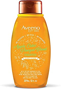Aveeno Apple Cider Vinegar Sulfate-Free Shampoo for Balance & High Shine Daily Clarifying & Soothing Scalp Shampoo for Oily or Dull Hair Paraben & Dye-Free 12 Fl Oz