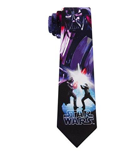 Star Wars Big Boys Original Trilogy Ties (Various Patterns), Duel Purple, One Size
