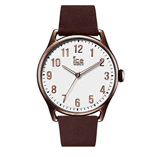 Ice-Watch - ICE time Brown White - Men's wristwatch with leather strap - 013047 (Large)