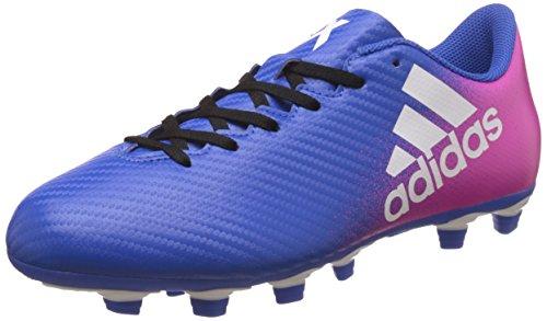 adidas X 16.4 Flexible Ground, Scarpe da Calcio Uomo, Blu (Blue/Footwear White/Shock Pink), 43 1/3 EU
