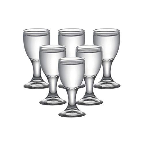 Z-Y Taza de Cafe Copa de Vino Vaso de Whisky 6pcs / Set Libre de Plomo Swallow Vaso de Whisky Vasos de Licor licores Vasos de Vodka for Bebidas 20ml Bala Bar Copa (Capacity : 20ml 0.7OZ)
