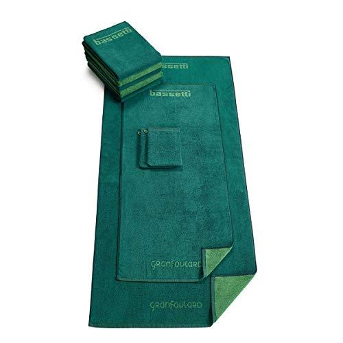 Bassetti Toalla de ducha | Shades V1 verde - 70 x 140