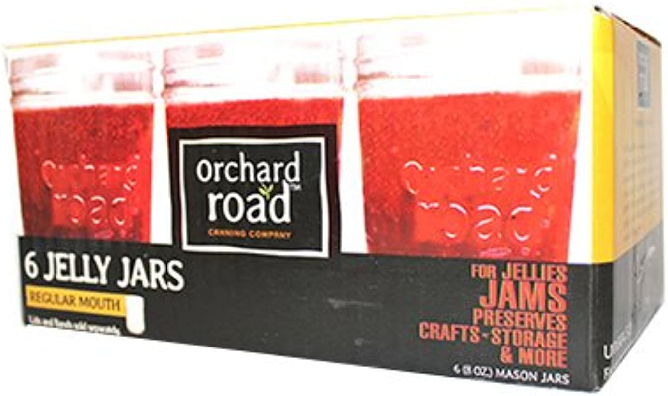 Orchard Road Canning 6PK 8OZ Jelly Jar