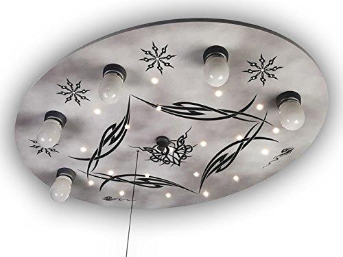 LED Kinder Deckenleuchte GOTHIC, AMAZON ECHO KOMPATIBEL! LED-Schlummerlicht bringt den LED Sternenhimmel ins Kinderzimmer!