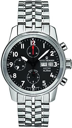 Revue Thommen Reloj de pulsera automático para hombre Airspeed XLarge 40 mm Día & Date Window pulsera de acero inoxidable 16051.6137