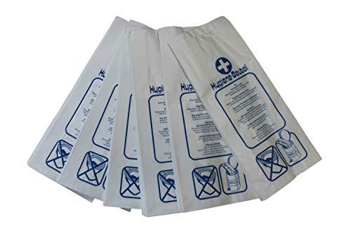 Hygienebeutel Damenhygiene 100 Stück 12cm x 5cm x 28cm weiß