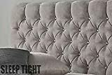 Sleep Tight Designer Headboard Chesterfield <span class='highlight'>Crushed</span> <span class='highlight'>Velvet</span> 30 Inch | Silver <span class='highlight'>Crushed</span> <span class='highlight'>Velvet</span> | 4FT6 Double Diamante`s 30
