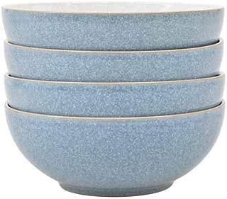 Denby Elements 4 Piece Cereal Bowl Set, Blue