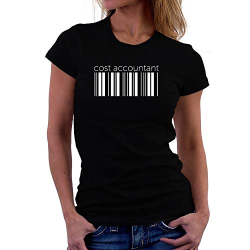 Teeburon Cost Accountant Lower Barcode Camiseta Mujer