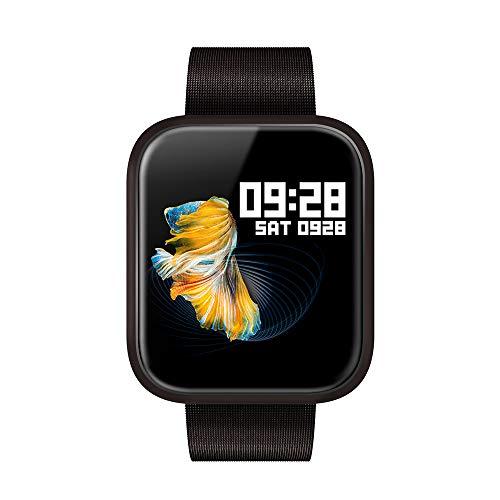 WSFF IP68 wasserdichte intelligente Uhr, 1,3-Zoll-Farb-Sport-Armband, Geeignet für Sport und Fitness, Unterstützung Herzfrequenz-Pedometer Überwachung,Schwarz