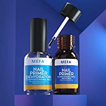 MEFA Professional Natural Nail Prep Dehydrate & Bond Primer Set, Long-Lasting and Fast Air-dry Nail Protein Bonding Primer for Acrylic Powder and Gel Nail Polish - 15 ML / 0.5 oz