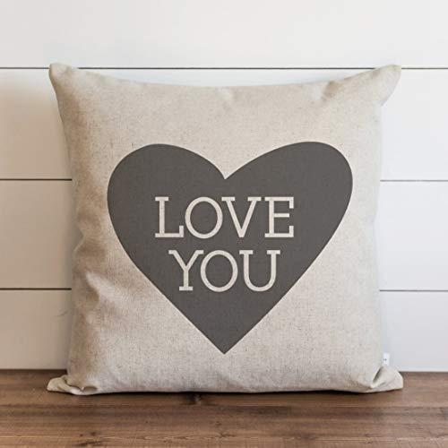 Funda de almohada Love You con forma de corazón para el día de San Valentín, para regalo