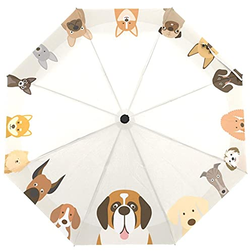 YUQINT Paraguas de lluvia familiar para perro, paraguas plegable para mujer, paraguas de golf, a prueba de viento, para niños, 8 costillas (color : paraguas de perro)