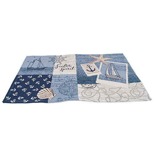 Sander Gobelin Platzset Tischset Motiv Sailor Patch 32 x 48 cm maritim