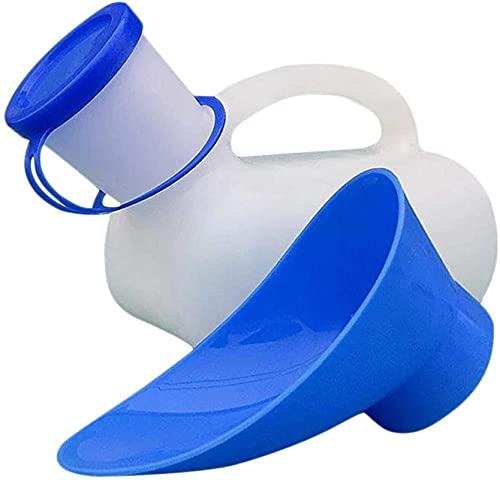 hwljxn Coche Unisex orinal orinal, hombres y mujeres urinarios con tapa y embudo, inodoro para automóvil inodoro móvil portátil urinario de viaje al aire libre, unisex Universal Urinal de emergencia 1