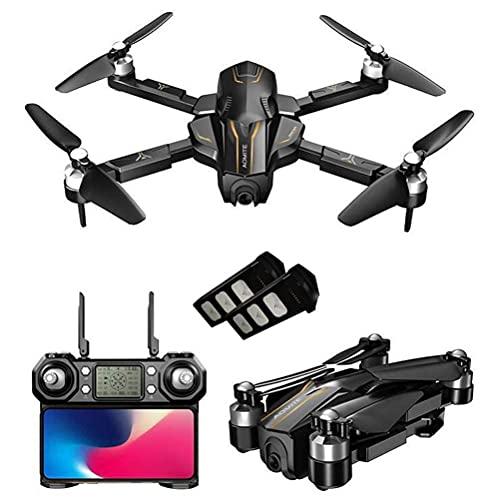 Drone GPS con fotocamera per adulti 4K UHD FPV, Drone 30 minuti volo, Quadricottero GPS RC con motori brushless, Distanza telecomando 1000M, Ritorno automatico, 110 gradi;Fotocamera grandangolare