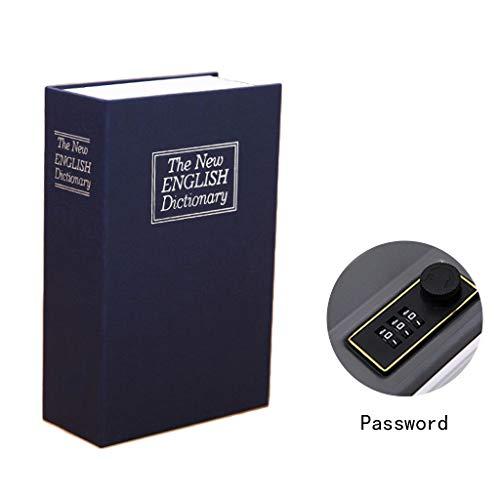 Safes & Kasten Digitale kluis boek, wachtwoord, bewaardoos, geschikt voor kleine waardevolle spullen, verschillende kleuren, 11,5 x 5,5 x 18 cm, 9-28 blauw