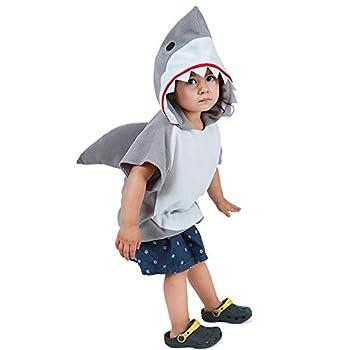 EraSpooky Kid s Shark Costume Small Gray