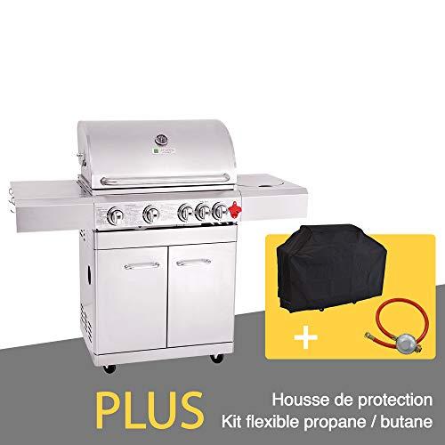 GREADEN BBQ Grill Barbecue À Gaz INOX PHÉNIX - 4...