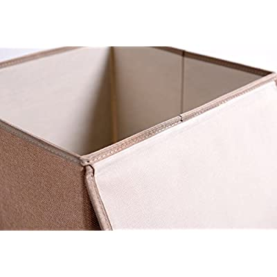 Easy to Clean And Organize Collapsible 33 X 33 X 33 CM TruReey Folding Storage Box With lid Sturdy Tiger Toy Storage Box Fabric