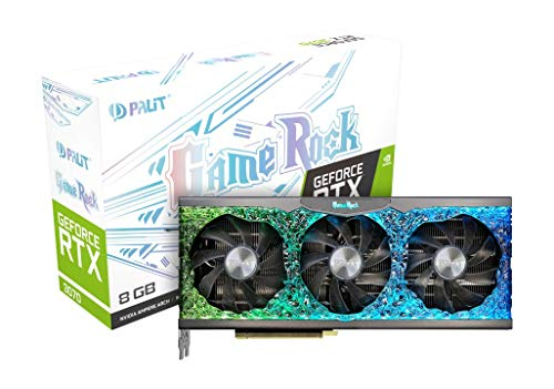 Palit GeForce RTX 3070 GameRock 8GB GDDR6 Grafikkarte mit ARGB SYNC, Angel ARGB, 5888 Core, 1500MHz GPU, 1725MHz Boost, 3X DisplayPort, HDMI, Dual BIOS, 0dB Tech