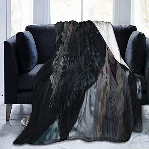 Manta de franela de juego de tronos multiusos de felpa cálida manta de forro polar ligera para el hogar, cama, sofá, coche, camping interior