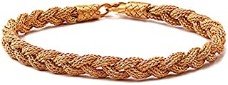 Gold Rhodium Plated Sterling 925 Silver Unisex Bracelet…