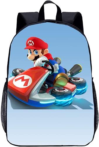 Mario Kart Rucksack?Super Mario Schultasche?Schulgeschenk?Idealer Rucksack für Kinder?Mode cool?Toller Rucksack (Mario-1,13 Zoll (Kindergarten))