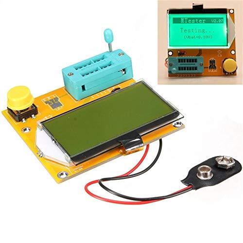 LCR-T3 Transistor Tester 128x64 LCD-Kapazität Widerstand Dioden SCR ESR Induktivität Meter Experimentelles Modul