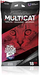 Cat litter clumping for toilet use Canada Litter MULTICAT 18Kg Unscented