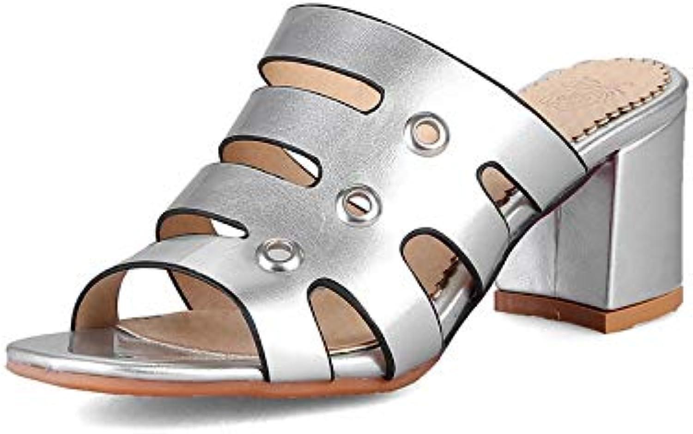 MENGLTX 2018 Neue Marke Party Platz High Heels Pantoletten Pumps Schuhe Frau Slip-on Sommer Date Schuhe Gre 31-48