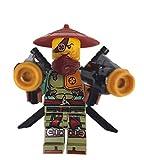 LEGO Ninjago - Mini figura de Ronin Ninja Ghost Shadow con armas