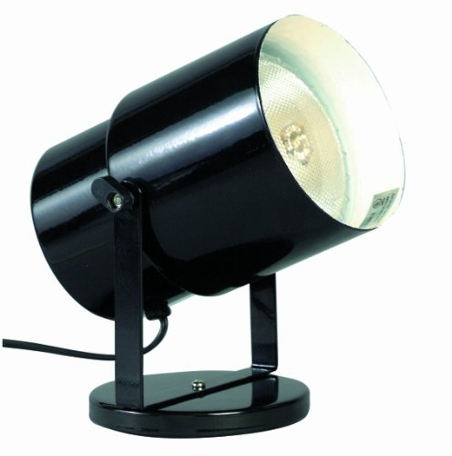 Satco SF77/394 Multi Purpose Portable Plant or Pin-Up Spot Light, Steel, L:4.25' W:6.75' H:5.75' D:4.25', Black Finish