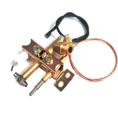 LZL Fire pits Earth Star Propane Gas Heater Fire Pit Replacement Parts ODS Pilot Burner Assembly Kit with Thermocouple and Ignition Wire 250mm Fire pit